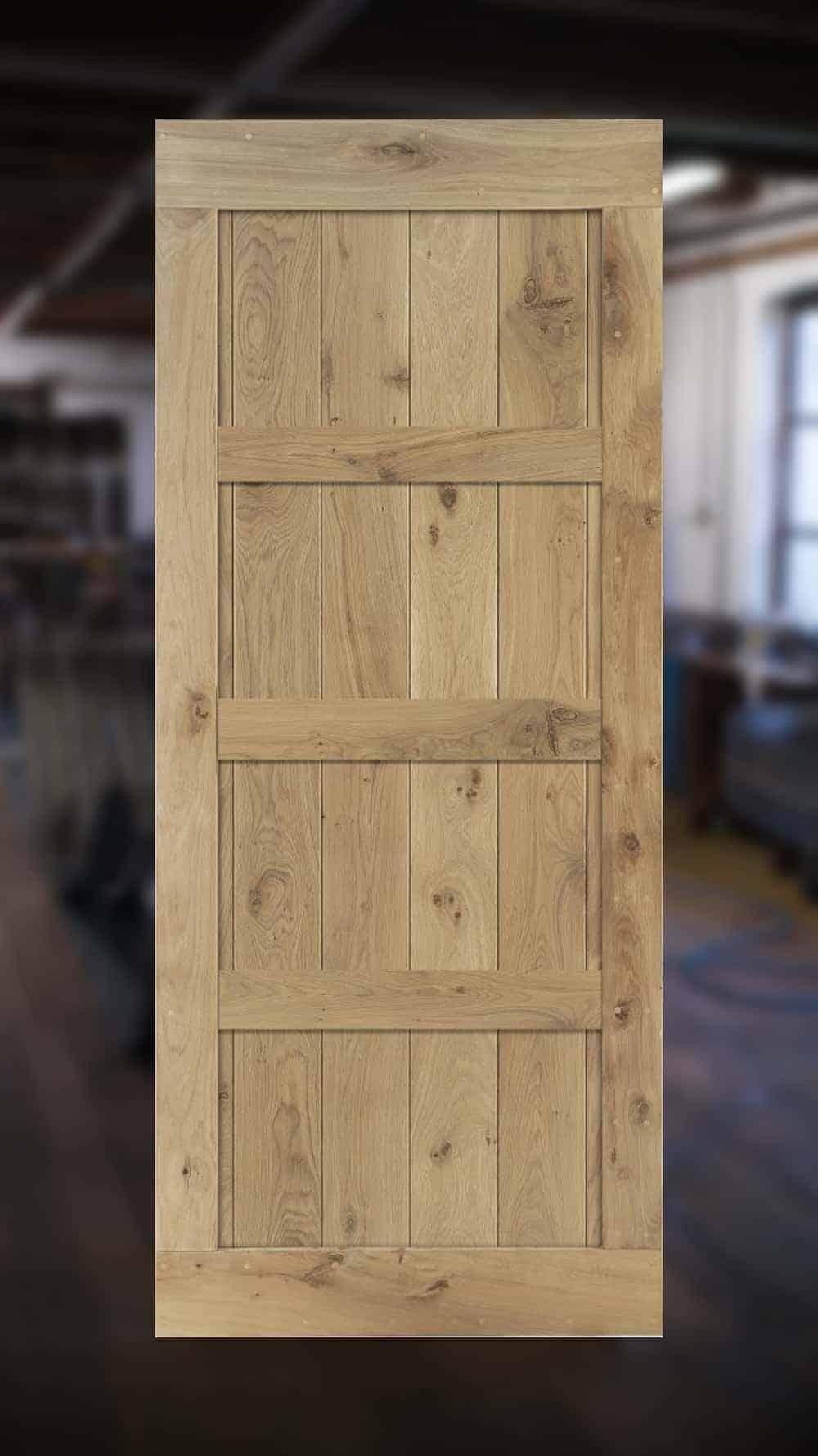 houten binnendeur van Cottageworld gemaakt van duurzaam eikenhout