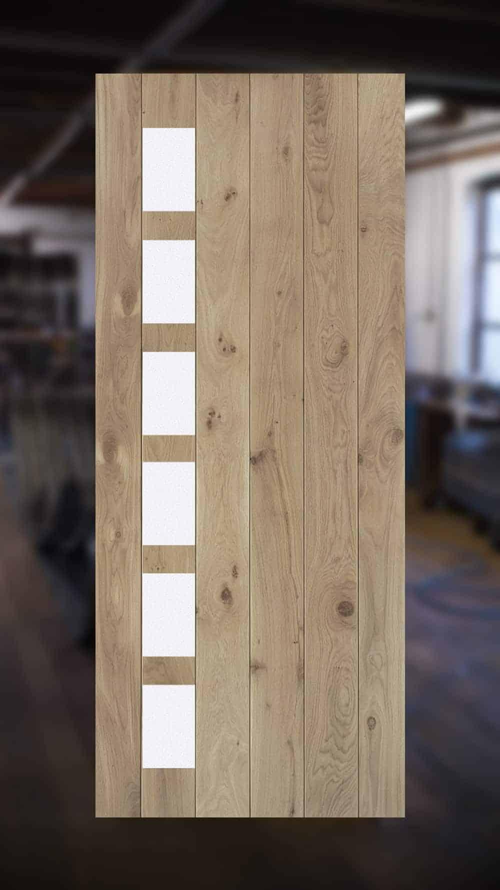 Houten designdeuren van eikenhout