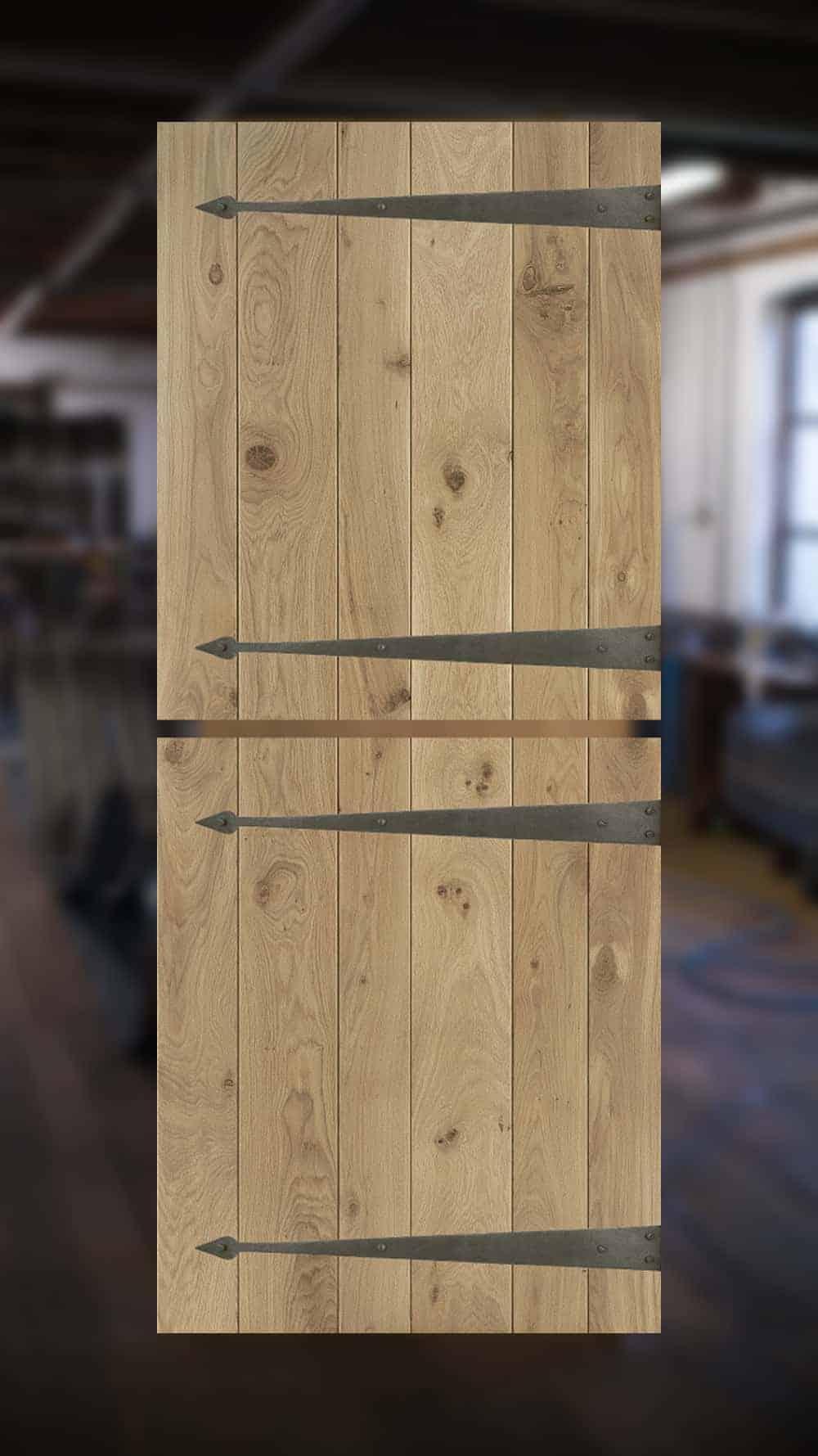 Op maat gemaakte eiken staldeur