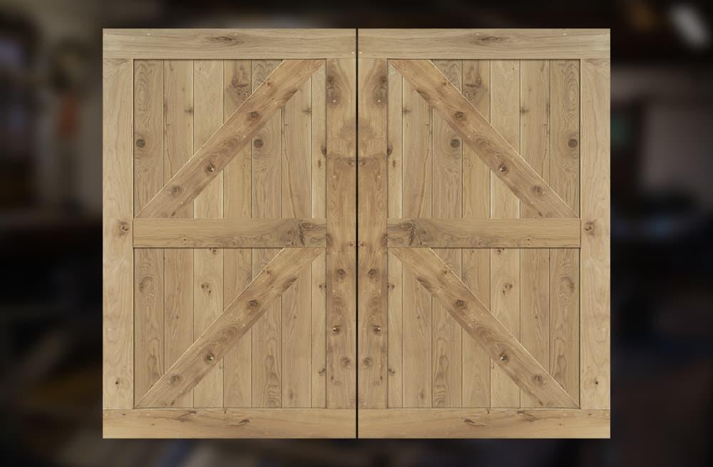 massief eiken houten garagedeuren van Cottageworld