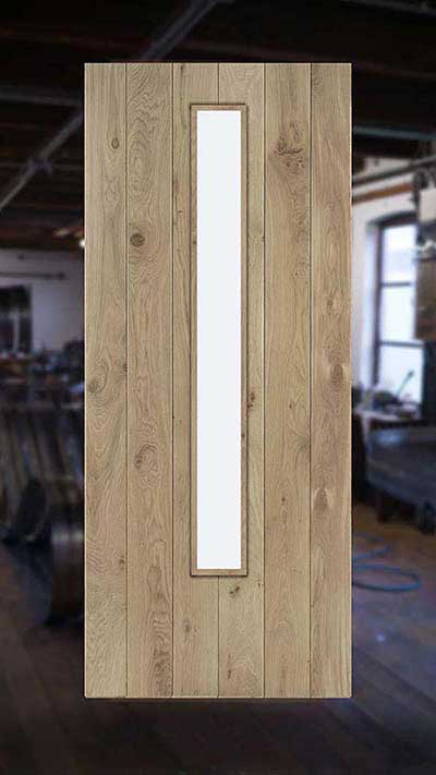 op maat gemaakte voordeur gemaakt van eikenhout bij Cottageworld